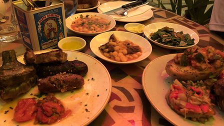 The Calçotada feast comes with a meat and vegan option. Picture: Emma Bartholomew