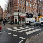 The zebra crossing in Hampstead High Street which may be turned into a pelican crossing under propos