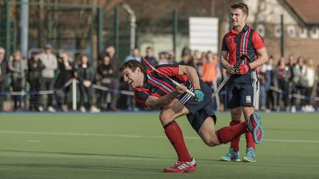Richard Smith fires goalwards (pic Mark Clews)