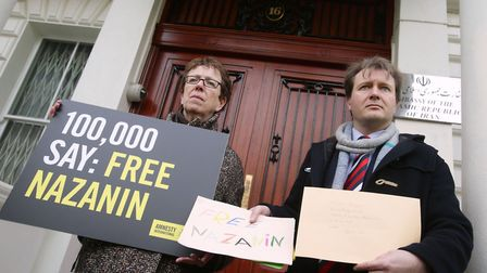 Richard Ratcliffe (right), the husband of jailed British mother Nazanin Zaghari-Ratcliffe, and Kate
