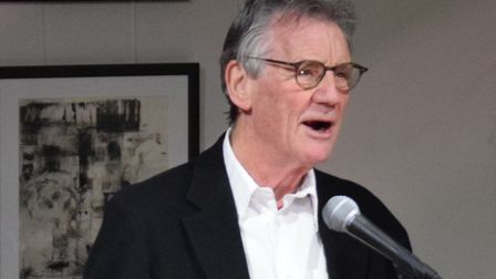 Michael Palin speaking to the audience at a fundraiser for the Camden Music Trust. Picture: Camden C