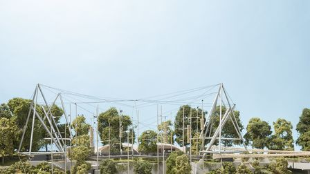 Foster + Partners model of how the aviary will look Photo � Tom Miller