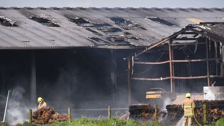 Firefighters tackled a fire at a farm in Suffolk. Picture: Nick Butcher
