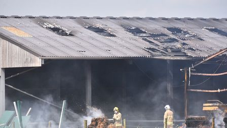 The fire service have a fire at a Suffolk farm under control. Picture: Nick Butcher