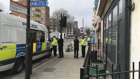 In Malden Road police found a man, named locally as Sadiq Aadam, believed to be in his 20s with seri