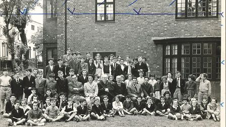 The children and teachers of the synagogue's religions school, pre 1956. Picture: Belsize Square Syn