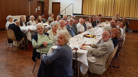 A recent lunch celebrating the festival of Shavuot. Picture: Belsize Square Synagogue