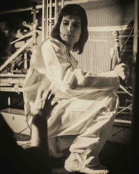 Freddie Mercury in Hyde Park 1976, picture by Danny Clifford