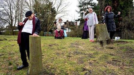 Residents of the Graville Road Estate in Childs Hill are unhappy that so many trees have been cut do