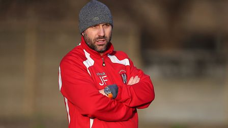Clapton manager Jon Fowell during Ilford vs Clapton, Essex Senior League Football at Cricklefields S