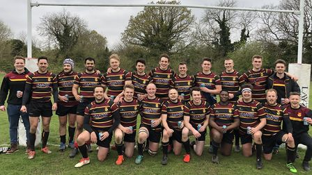 Hampstead face the camera after their final match of the season (Pic: Charlie Roberts)