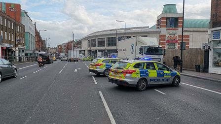 Finchley Road is closed in both directions after a man was killed when he was hit by a lorry. Pictur