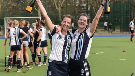 Hampstead & Westminster co-captains Hayley Turner and Kat Baker (pic Mark Clews)