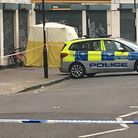 A man was stabbed to death in Matthias Road. Picture: Lucas Cumiskey