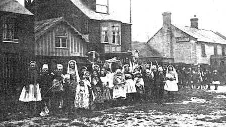 May Day celebration in Oulton Broad in the 1920s. Picture: Courtesy of Ivan Bunn.