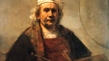 Rembrandt's Self Portrait with two circles. Picture: Terry Long Imagery/Creative Commons