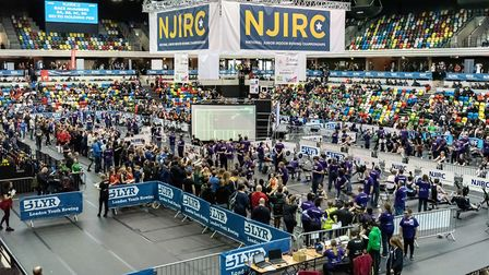 Action from the National Junior Indoor Rowing Championships at the Copper Box (pic John Trigg)