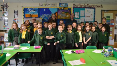 Songs at Oulton Broad Primary School. Picture: Courtesy of Peter Spedding
