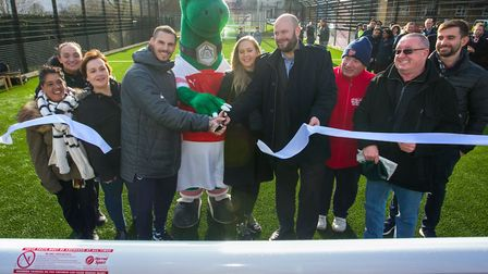 Former Arsenal player J�r�mie Aliadi�re joined Hackney Mayor Phil Glanville at the opening of the ne