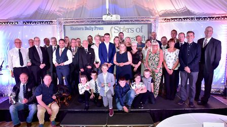 All the winners and sponsors at last year's Stars of Lowestoft and Waveney Awards. Picture: Nick But