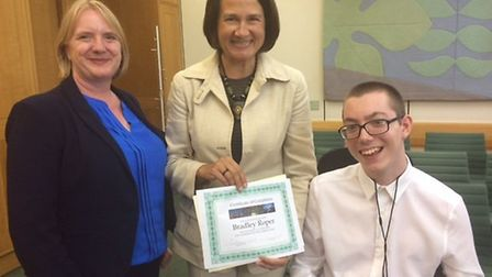 Joanna McCarthy and Hornsey and Wood Green MP Catherine West with attendee from last year's summer s