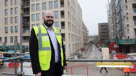 Mayor of Hackney Philip Glanville at the King's Crescent Estate in Hackney. Picture: Dieter Perrry