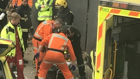 A man was critically injured in the Swain's Lane explosion (Pic: Sarah Lawrence)