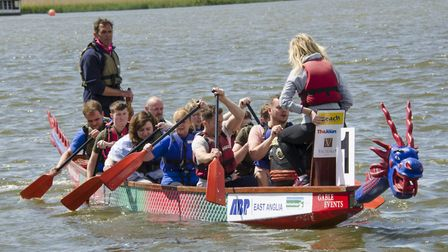The Gunton Hall team paddling at a previous festival. Pictures: Courtesy of Gable Events