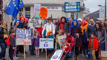 Open Britain Hampstead ahead of the Put it to the People march on March 23. Picture: Sarah O'Keefe.