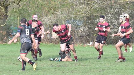 Action from UCS Old Boys against Thamesians in Herts/Middlesex One (pic: Nick Cook)