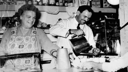 Syd's coffee stand in the 1950s