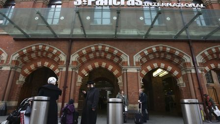 St Pancras train station in London. Picture: PA Images/Philip Toscano
