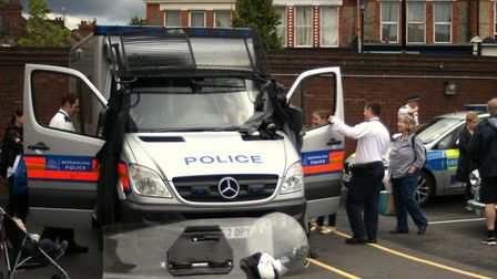 Last year's open day at Hornsey Police Station in TOttenham Lane. Picture: Haringey Police