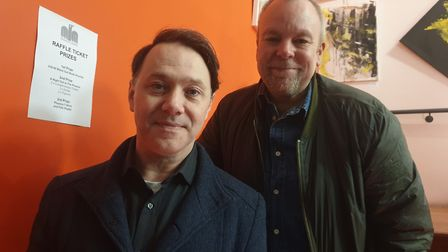 Reece Shearsmith and Steve Pemberton before their Q&A and screening at the Phoenix Cinema on Sunday.