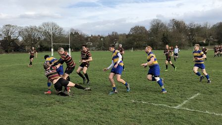 Hampstead in action against Enfield (Pic: Emily Williams)