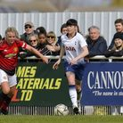 Tottenham Hotspur Ladies defender Ashleigh Neville in action against Manchester United Women (pic: W
