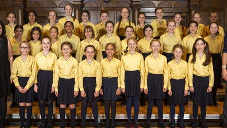 South Hampstead Junior School's chamber choir, who have won Young Choir of the Year.. Picture: Brona