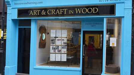 Woodturner Darren Breeze has opened a new shop called Art and Craft in Wood on Lowestoft High Street