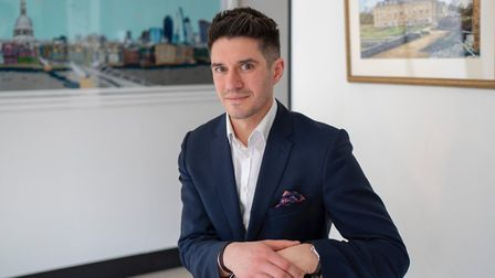 James Ward, manager of Clarendon Fine Art which opens in Heath Street Hampstead