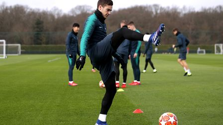 Tottenham Hotspur's Harry Winks during a training session at Hotspur Way (pic: John Walton/PA Images