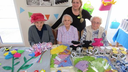 Daniella Penedo with residents at the Wellbeing Day Centre open day. Picture: Daniella Penedo