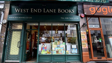 West End Lane Bookshop outside. Picture: Polly Hancock