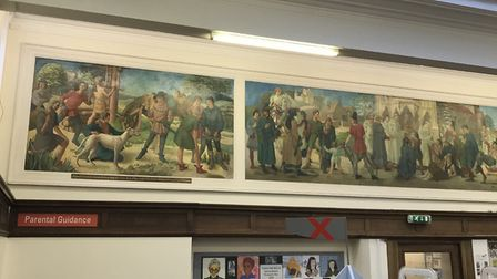 The mural at Muswell Hill Library. Picture: Friends of Muswell Hill Library