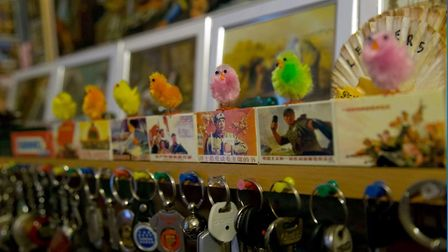 Little Easter chicks form part of Veysel's eclectic collection. Picture: Veysel Baba