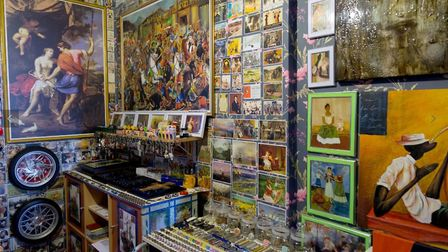 Veysel estimates his collection of art prints comes to more than 10,000 pieces. Picture: Veysel Baba