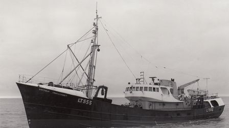 The Suffolk Challenger at sea in 1968. Picture: From the collection of Alice Taylor, unknown photogr