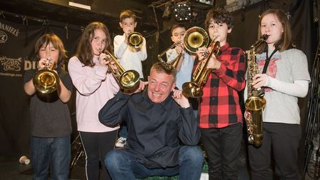 Suggs meets budding musicians at The Dublin Castle Picture: Justin Thomas.