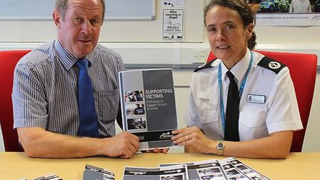Suffolk police and crime commissioner Tim Passmore and assistant chief constable Rachel Kearton say