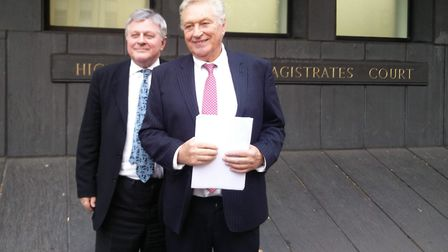 King William IV landlord Jimmy McGrath with barrister Robert Griffiths QC. Picture: Sam Volpe
