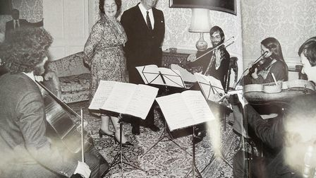 The Endellion String Quartet play for then-Chancellor of the Exchequer Denis Healey in 1979. Picture